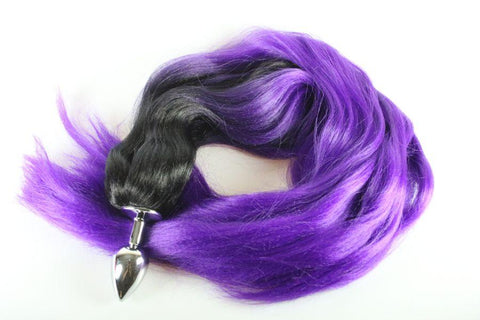 Purple Mist Pony Tail Butt Plug Synthetic Tail (50)