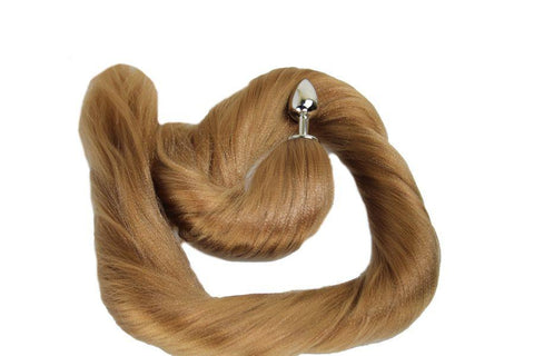 XL Bristle Pony Tail Butt Plug Synthetic Tail (42)
