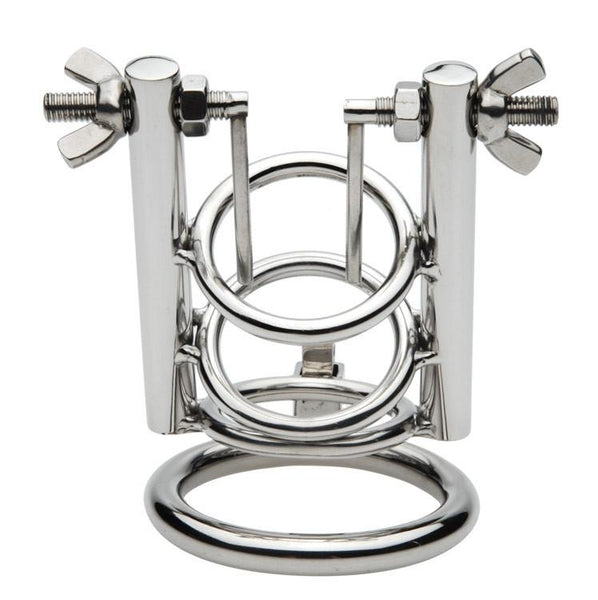 Stainless Steel Chastity Cage with Urethral Spreader for CBT