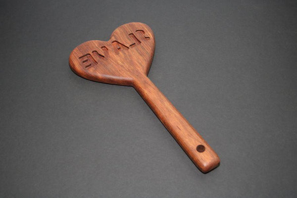 BDSM Engraved Slave Heart Impression Spanking Paddle