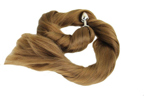 XL Coconut Pony Tail Butt Plug Synthetic Tail (37)