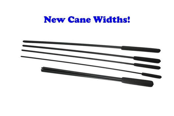 Buy and SAVE!  Complete Black Delrin Cane and Beater Package. BDSM Discpline at its Best!