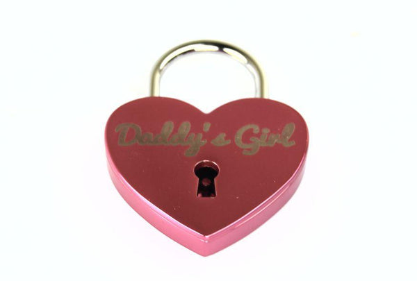 Daddy's Girl Heart Lock for Bondage