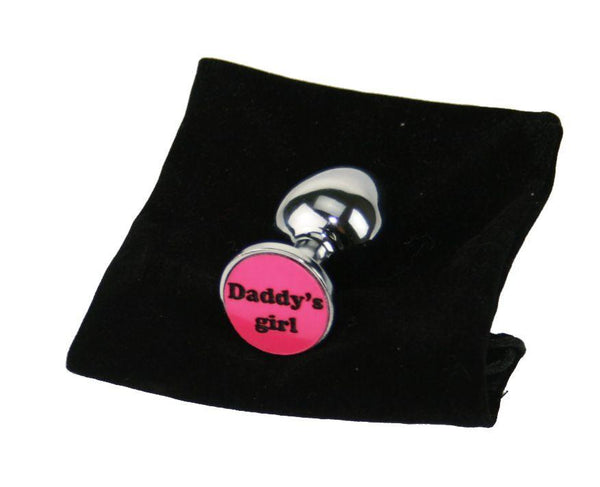 Daddy's girl Custom Solid Steel Butt Plug