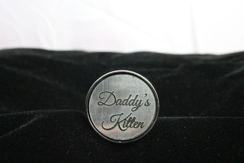 Daddy's Kitten Custom Steel Butt Plug Script