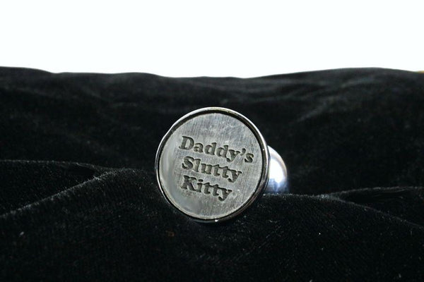 Daddy's Slutty Kitty Custom Steel Butt Plug