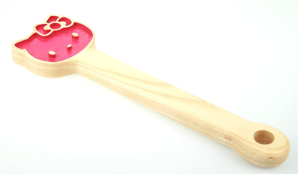 Engraved Kitty BDSM Spanking Paddle, in Ash
