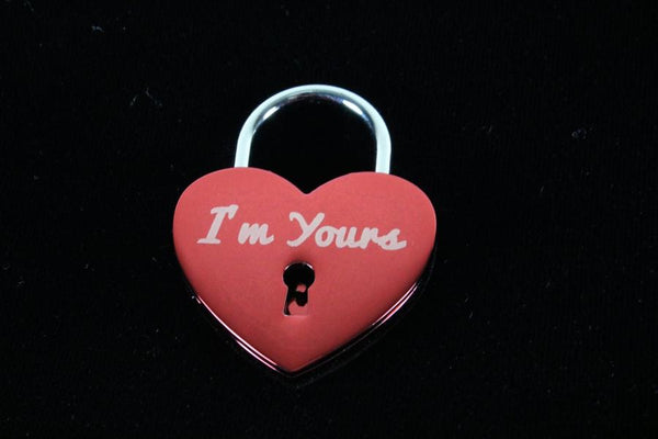 I'm Yours Lock for Chastity Play and Bondage