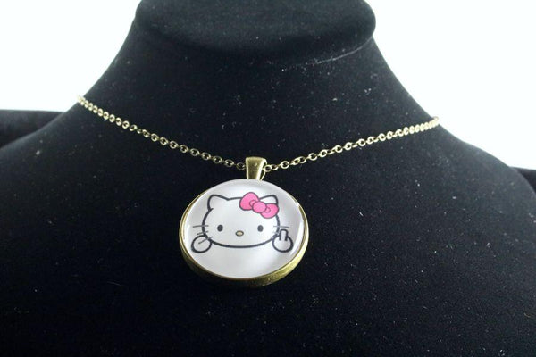 Custom Kitty Pendant Brass Finish