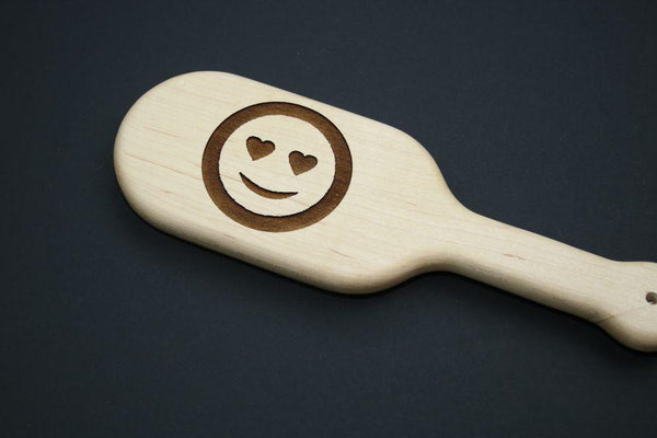 Love Emoji BDSM Engraved Spanking Paddle
