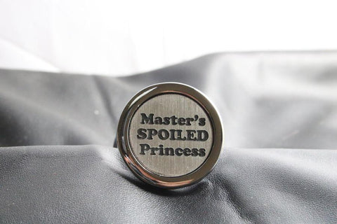 Master's Spoiled Princess Custom Steel Butt Plug