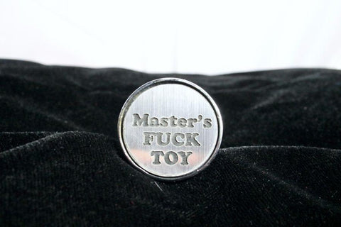 Master's Fuck Toy Custom Steel Butt Plug