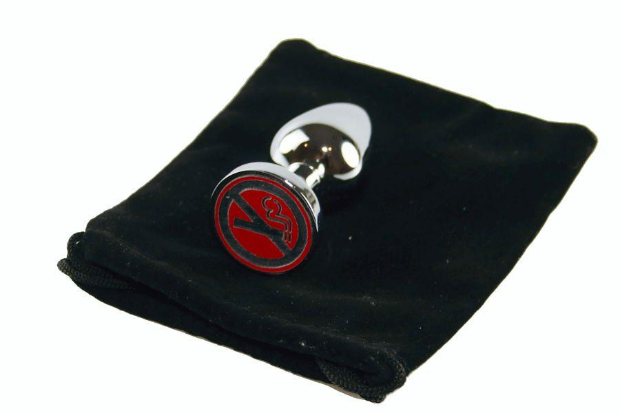 No Smoking Custom Solid Steel Butt Plug