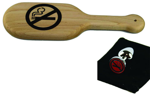 Smoking Cessation Package Spanking Paddle and matching Butt Plug