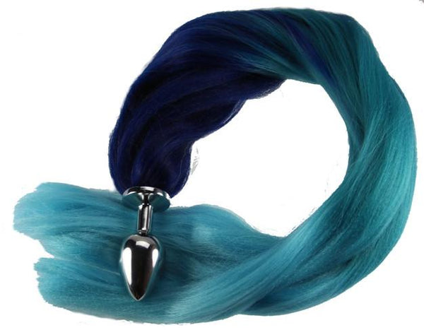 "24"" Ocean Foam Pony Tail Butt Plug Synthetic Tail (12)"