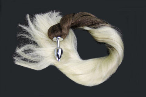 Pearl Pony Tail Butt Plug Synthetic Tail (35)