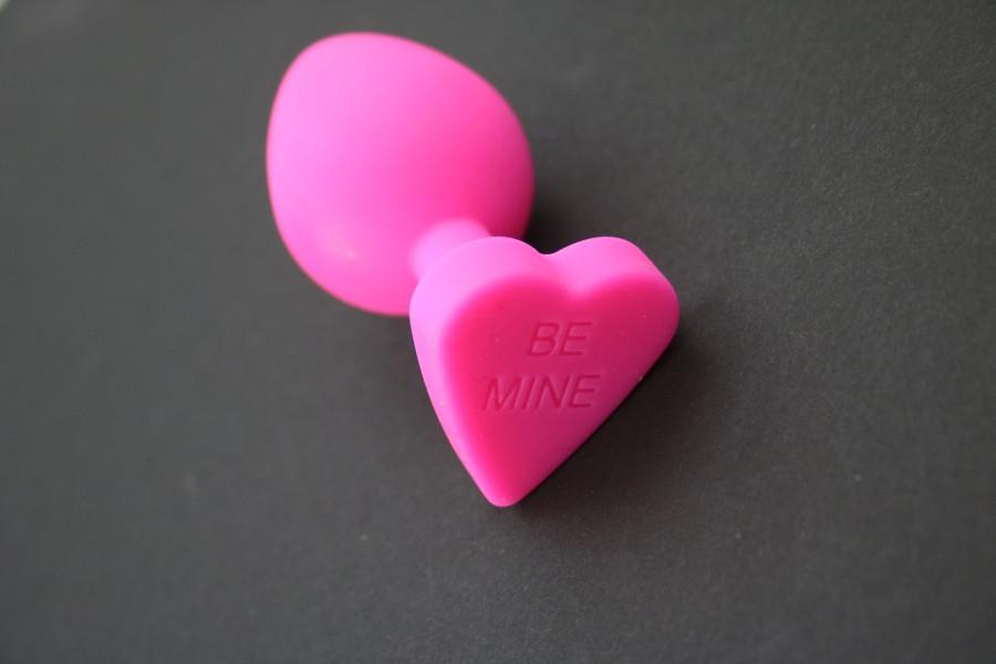 Be Mine Pink Silicone Heart Butt Plug Overstock Item