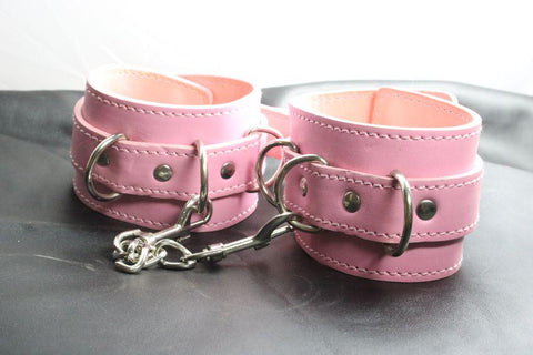 Vegan Friendly Ankle Restraints with D-rings (Style 5)