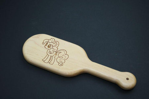 Pinkie Pie Pony Laser Engraved BDSM Spanking Paddle