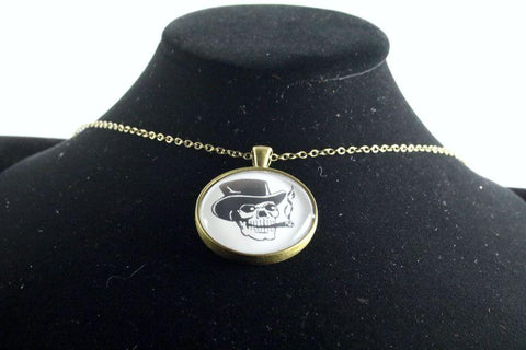 Custom Skull Pendant Brass Finish