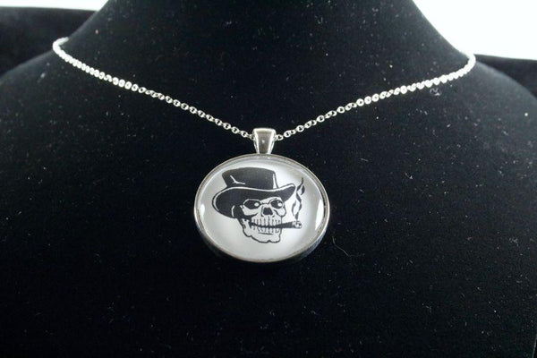 Custom Skull Pendant Silver Finish