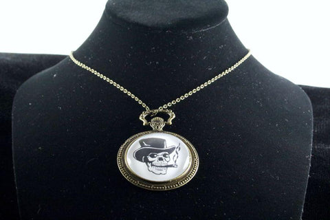 Custom Skull Watch Pendant Brass Finish
