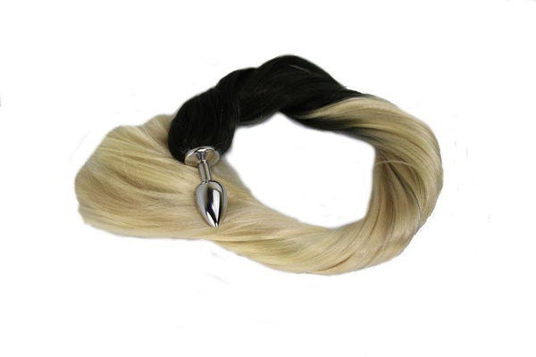 Platinum Pony Tail Butt Plug Synthetic Tail (4)