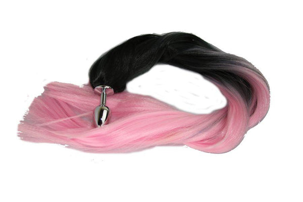 Pretty in Pink Pony Tail Butt Plug Synthetic Tail (2)