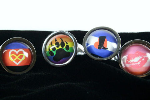 Custom Pride Flag Butt Plug Small Choose Your Image