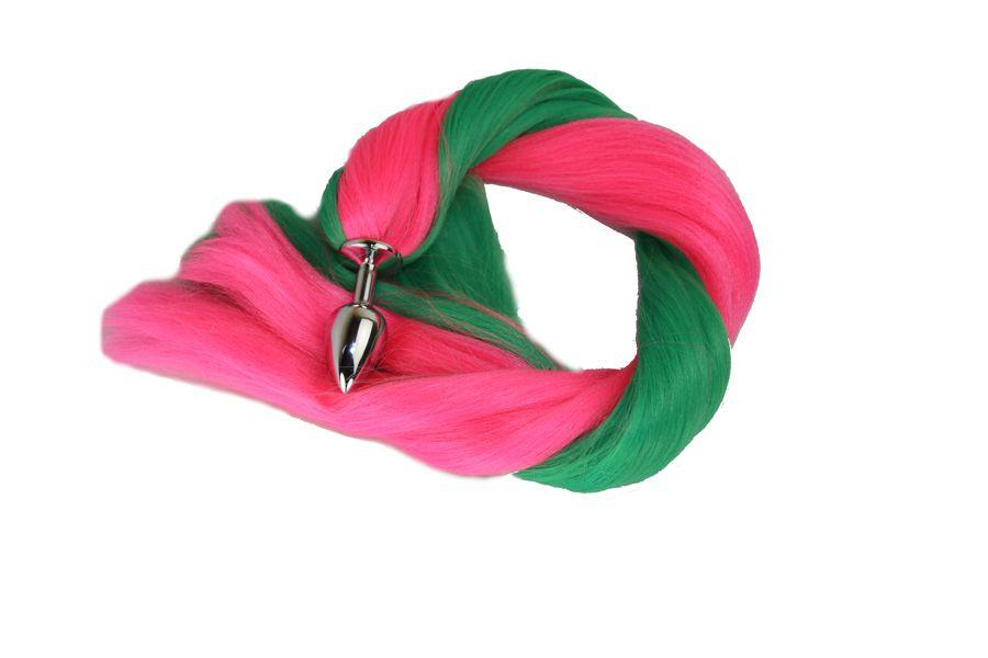 Raspberry Passion Pony Tail Butt Plug Synthetic Tail (30)