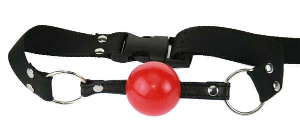 Red Silicone Ball Gag