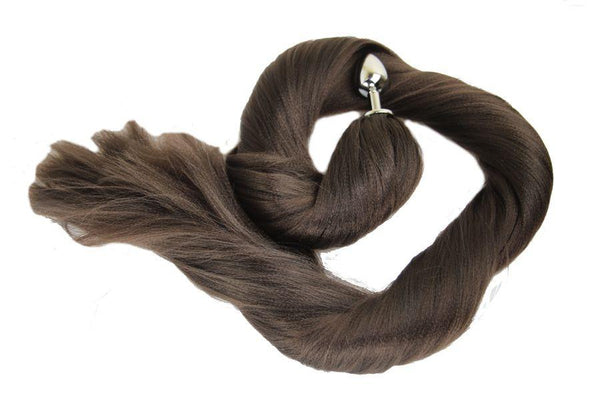 XL Velvet Pony Tail Butt Plug Synthetic Tail (41)