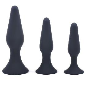 Black Silicone Butt Plug Training Butt Plug