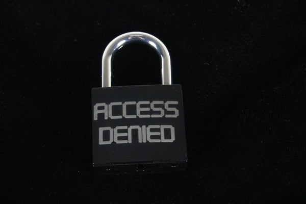 Access Denied Lock for Chastity Play and Bondage