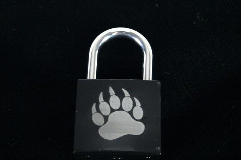 Bear Claw Print Lock for Chastity Play and Bondage