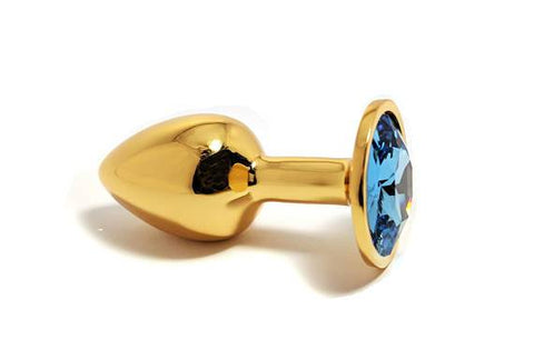 Small HEAVY Gold Tulip Jewel Butt Plug