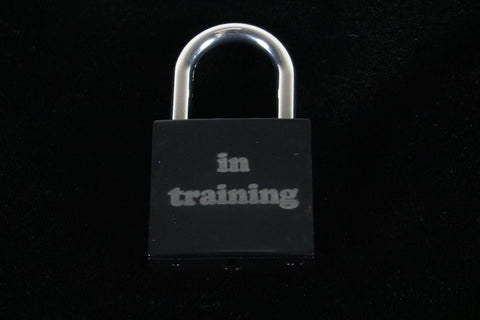 In Training Lock for Chastity Play and Bondage