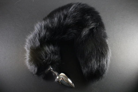 SALE Unique Real Fur Fox Tail CHOOSE YOUR TAIL with Large Butt Plug