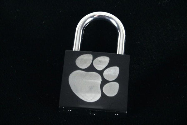 Puppy Paw Print Lock for Chastity Play and Bondage