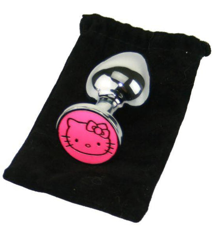 Hello Kitty Custom Solid Steel Butt Plug