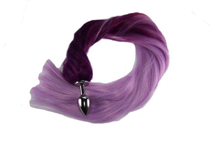 "24"" Purple Passion Pony Tail Butt Plug Synthetic Tail (13)"