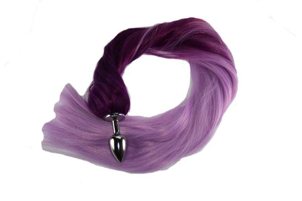 Purple Passion Pony Tail Butt Plug Synthetic Tail (13)