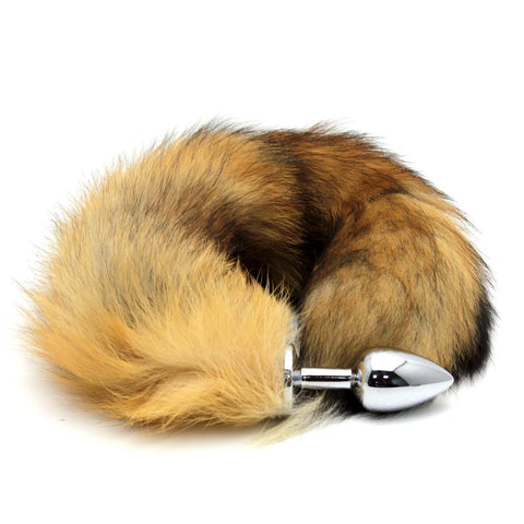 Red Fox Tail Butt Plug Real Fur