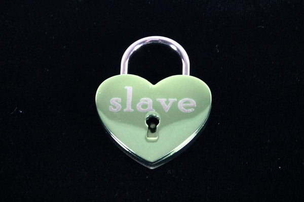 Slave Heart Lock for Chastity Play and Bondage