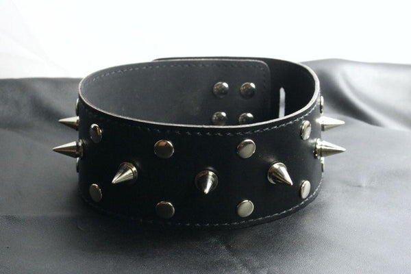 Tall Spiked Dog Collar Vegan Friendly (Style 12)