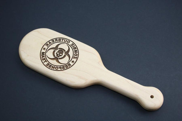 Zombie Outbreak Response Team ZORT Engraved BDSM Spanking Paddle