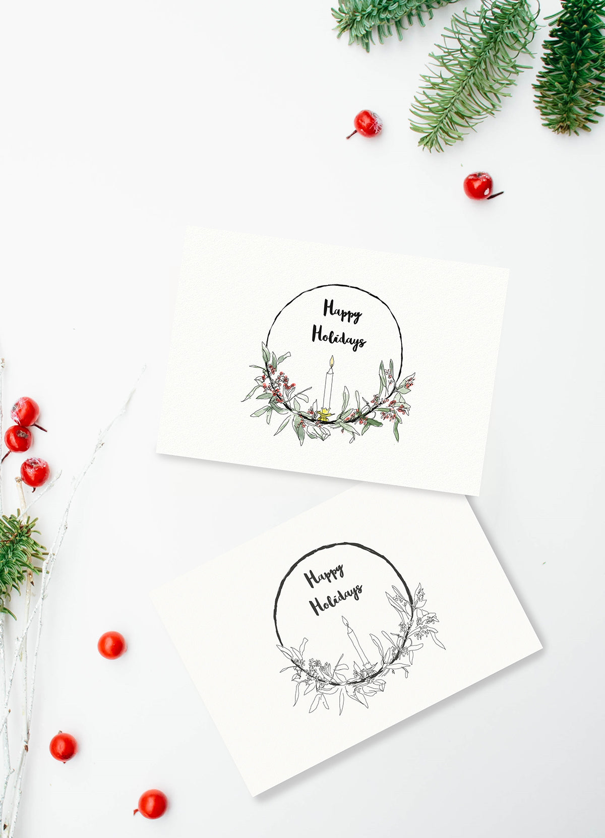 Printable holiday cards from Loop Design