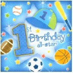 1st Birthday All Star - Lunch Napkins