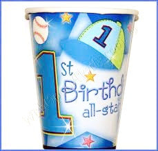 1st Birthday All Star - 18 Cups - 9 oz