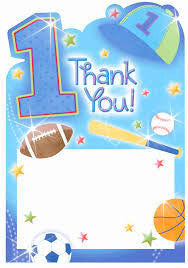 1st Birthday All Star Thank You Cards - 20